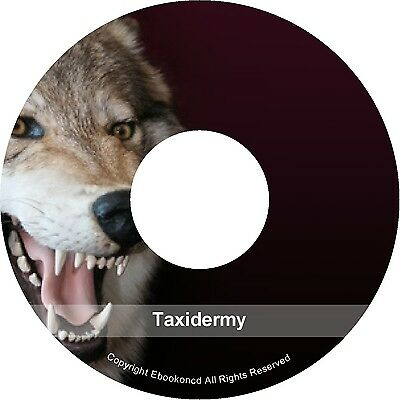 Taxidermy Taxidermist Stuffing Mounting Fish Mammal Bird Pets Animals Books CD