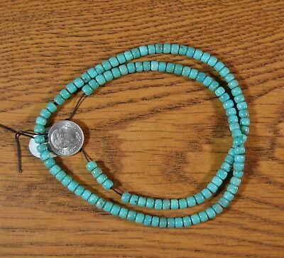 """Choice 18"""" Strand Campitos Turquoise Pyrite Beads 5mm Pueblo Beads"""