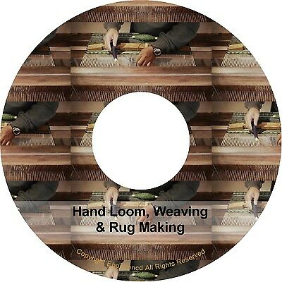 Hand Loom Looming Weave Weaving & Rug Making Ebook Mega Pack Books on CD