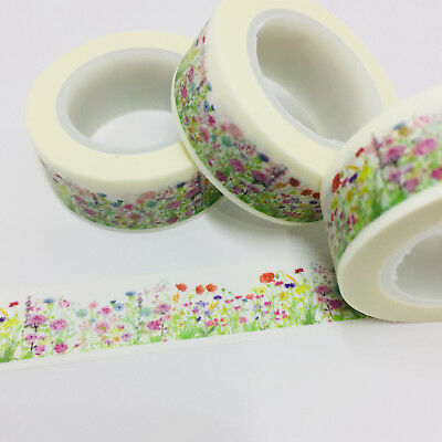 Washi Tape Floral Meadow  #2 15Mm X 10Mtr Planner Craft Scrap Wrap Mail Art