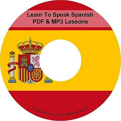 Learn To Speak Basic Spanish Language Audio MP3 +  E Book Lessons PDF's on CD