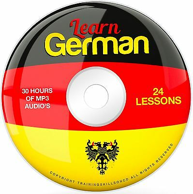 Learn To Speak Basic German Language Audio MP3 + EBook Lessons PDF on CD