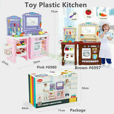 Kid Deluxe Pretend Play Toy Light Sound Kitchen Cooking Whiteboard Set #101A/B
