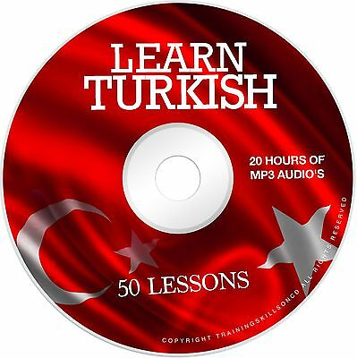 Learn To Speak Basic Turkish Language Audio MP3 Lessons + EBook PDF on CD