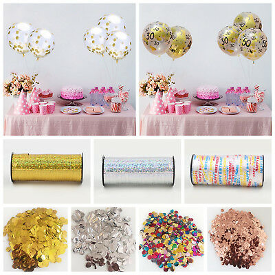 12inch Confetti Balloons Birthday Party Decor 100yards Satin Ribbon Party Favors