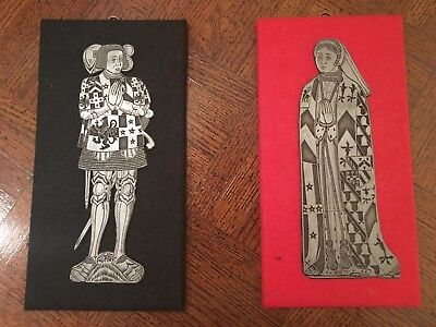 Lady Elizabeth & Sir Ralph Verney 1547 Brass Rubbing Reproduction Plaques