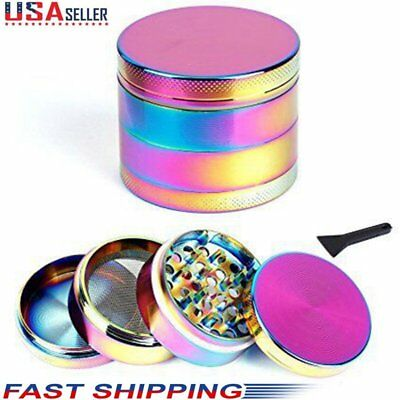 4-Piece Tobacco Herb Spice Grinder Herbal Alloy Smoke Metal Chromium Crusher