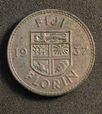 1937 Fiji Florin In V/good Condition