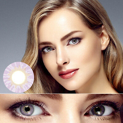 1 Pair Big Eyes Comfortable Wear Unisex Coloured Contact Lens Lenses Commode