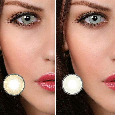 1 Pair Eye Makeup Charming Colored Contact Lenses Unisex Cosmetic Tool Commode