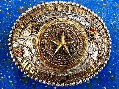 Texas Dps Department Of Public Safety Sergeant Cowboy Buckle Brand New