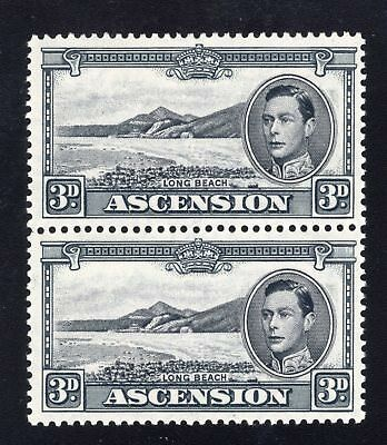 Ascension. SC#44ac, SG#42a. Mint, Never Hinged, Very Fine. Vert Pair