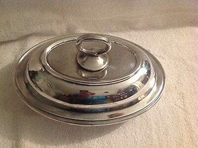 Reed & Barton Silver Plate Three Piece Covered Vegetable Serving Dish #11035