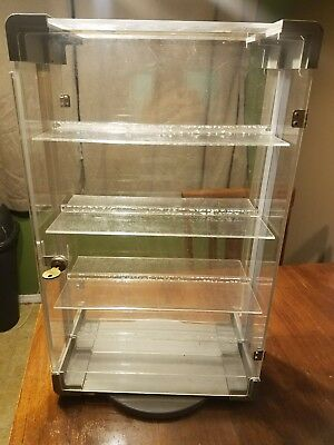acrylic jewelry display case turning and locking 13 x 22