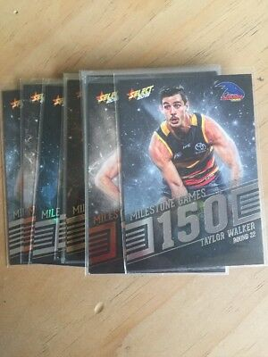 Select 2018 Milestone Pick Your Card AFL 100 150 200 Games