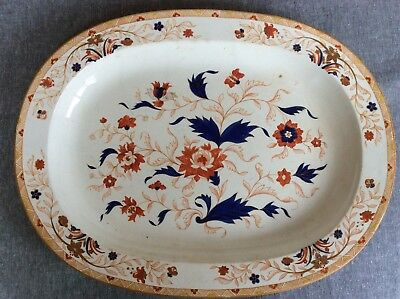 Wedgwood creamware meat platter, 19th century. India Tree pattern