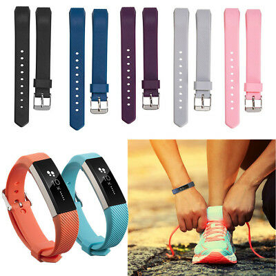 Soft Silicone Wristband Band Replacement Strap Sport For Fitbit Alta & Alta HR