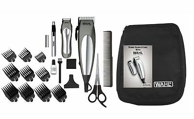 WAHL Hair Clippers Haircut Set Cordless Beard Trimmer Shaver Mens Groomer 21Pcs