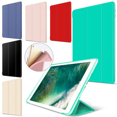 "For iPad 9.7 2018/2017 iPad Pro 10.5"" SLIM Magnetic TPU+Leather Smart Cover Case"