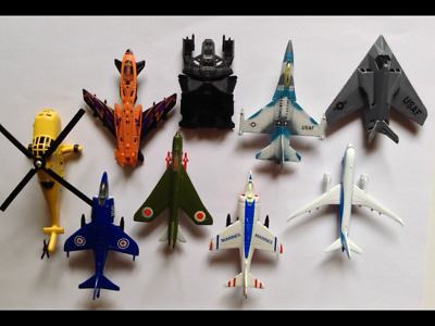 Matchbox Skybusters Lot Harrier F-16 Lighning F-117 Stealth Boeing 787...