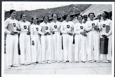 1936 Olympic Games Official Photo Card  German Gymnasts