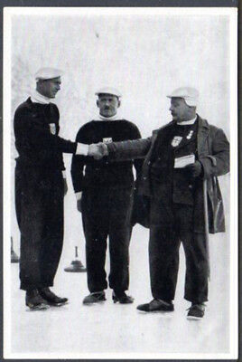 1936 Olympic Games Official Photo Card  Curling
