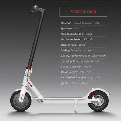 """8.5"""" Elektroroller scooter E-Scooter Cityroller Foldable Electric Scooter #Weiß#"""