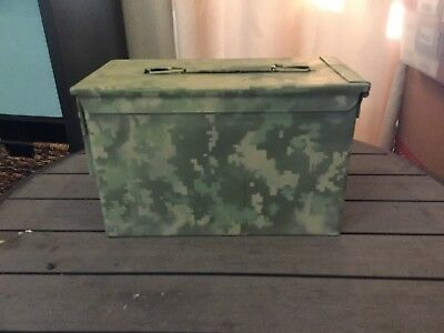 Military Ammo Cans Custom Or Plain , 50 Cal Olive Drab With Yellow Stenciling