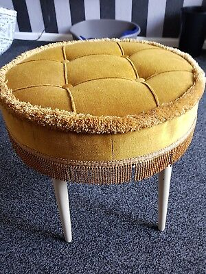 Authentic 'miss Muffet' Vintage Dressing Table Stool.