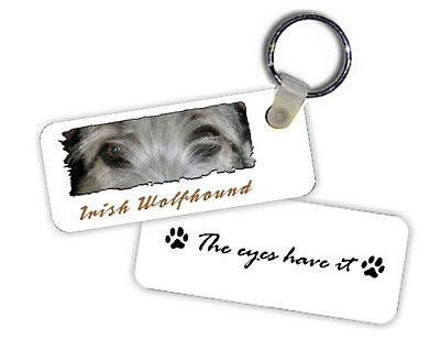 Irish  Wolfhound   The  Eyes Have It   Key  Chain