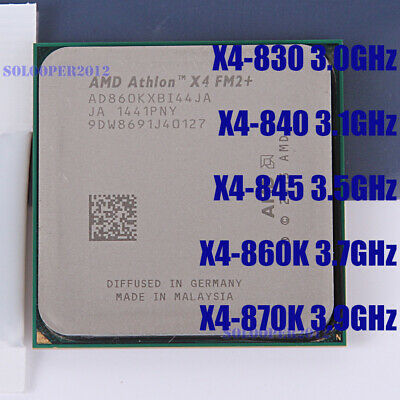 AMD Athlon X4 830 840 845 860K 870K Quad-Core Socket FM2+ Processor CPU