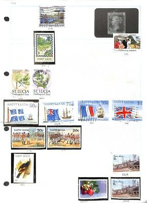 [OP5045] British Colonies lot of stamps on 11 pages - see photos in description