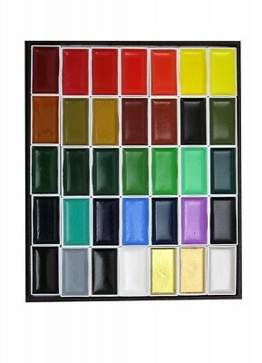 [With Tracking] Kissho GENUINE Gansai Japanese Watercolor Paint 35 Color SET
