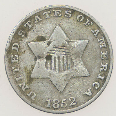 United States, 3 Cents, Silver, Usa, 1852
