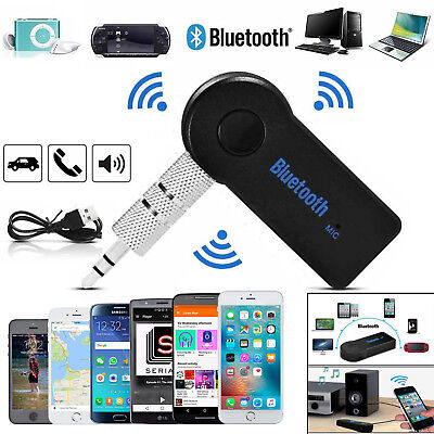 Wireless Bluetooth 3.0 Audio Aux Receiver 3.5mm Music Car Adapter Dongle W/ Mic