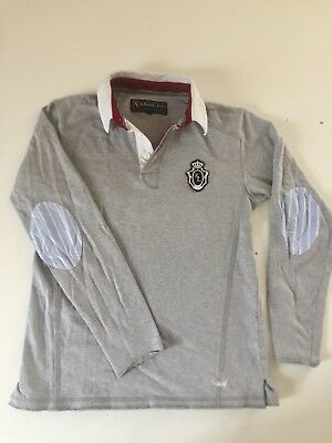 Kingland polo Unisex XS Langärmlig Grau mit Patches