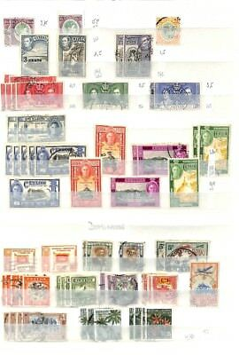[OP4829] British Colonies lot of stamps on 12 pages - see photos in description