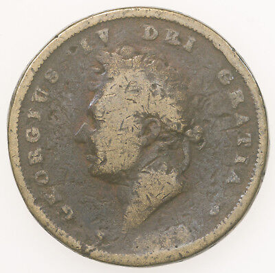 Great Britain, George Iv, Contemporary Counterfeit, Brass, C. 1826