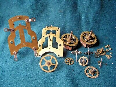 Vintage Ansonia Clock Movement Parts - for Spares