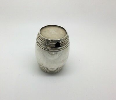 Victorian Sterling Silver Mustard Pot Dated 1908-09