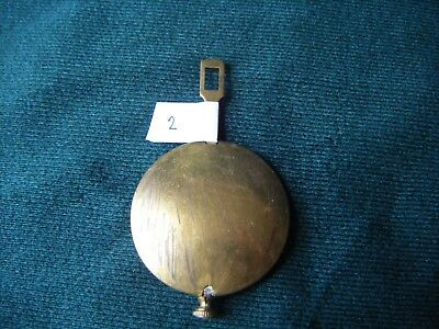 Brass Antique / Vintage Mantel Clock Pendulum (2)