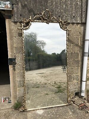 Stunning, Rare, French Antique Silver Mirror, Original  Early 1800's, Vintage