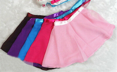 Ballet Leotard Wrap Scarf Tutu Skirt Dance Skate Costume Dress Chiffon NB