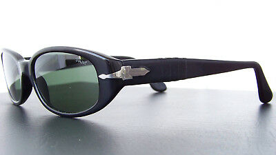 Vintage '90s Persol 2607-S fashion oval sunglasses black with case , used