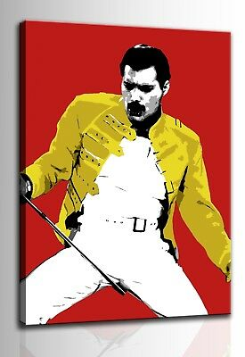 Quadro moderno Freddie Mercury dipinto a mano su tela pop art rock idea regalo