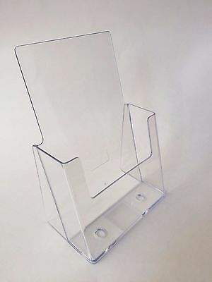"Literature Holder 6"" X 9"" Catalog Counter Pamphlet Display Clear Acrylic"