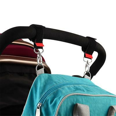 Baby Stroller Pram Pushchair Hanger Hanging Strap Nylon Metal Hook Portable 360°
