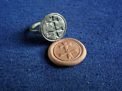 The  Rings from the Time of the Crusaders * Patrialchal Cross *  T#14