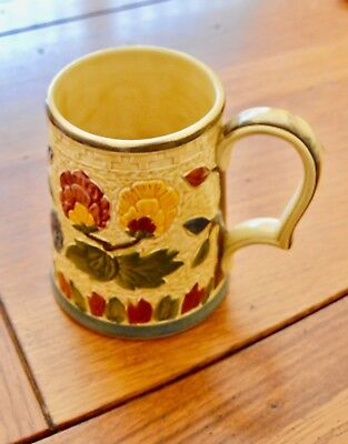 """PRICE REDUCED hand-painted """"Indian tree"""" tankard by H.J. Wood."""