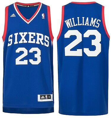 NBA Trikot Philadelphia 76ers Williams 23 Jersey Rev. Swingman Basketball blau